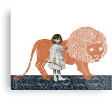 Pet Lion Metal Print