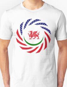 Welsh American Multinational Patriot Flag Series Unisex T-Shirt