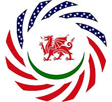 Welsh American Multinational Patriot Flag Series Photographic Print
