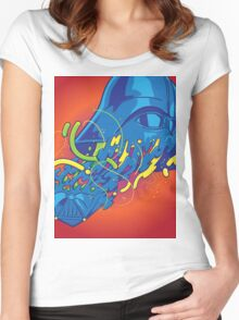 Happily melting Darth Vader Women's Fitted Scoop T-Shirt