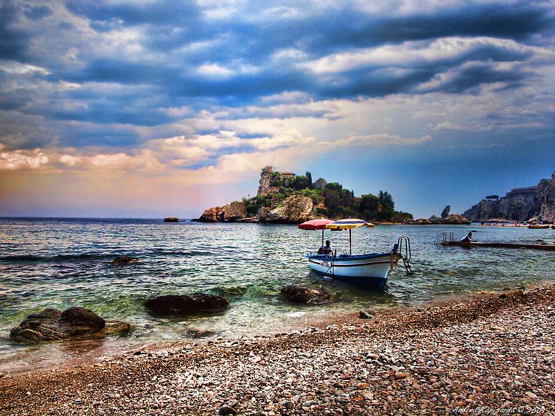 Isola Bella, Taormina, Sicily by Andrea Rapisarda