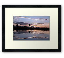 Sundown on the delta Framed Print