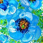 Himalayan Blue: Poppy Painting by Alma Lee by Alma Lee