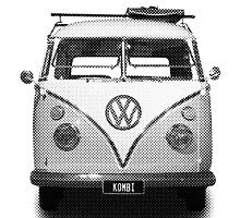 Volkswagen Kombi Newsprint BW by BlulimeMerch
