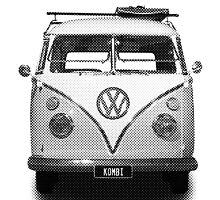 Volkswagen Kombi Newsprint BW © by BlulimeMerch