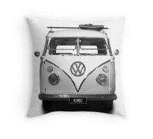 Volkswagen Kombi Newsprint BW Throw Pillow