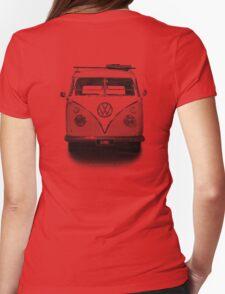 Volkswagen Kombi Newsprint BW © Womens Fitted T-Shirt