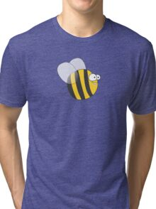 Cool & Crazy Funny Bee / Bumble Bee (Sweet & Cute) Tri-blend T-Shirt