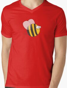 Cool & Crazy Funny Bee / Bumble Bee (Sweet & Cute) Mens V-Neck T-Shirt