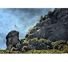 Flag at Chimney Rock Photographic Print