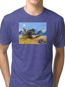 Zombie Megalodon Tri-blend T-Shirt