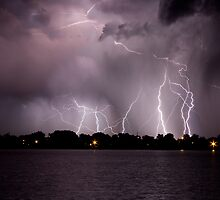 Lake Lightning Storm by Bo Insogna