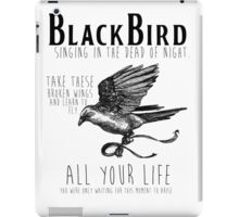 Blackbird The Beatles Minimalist Typography Tee iPad Case/Skin