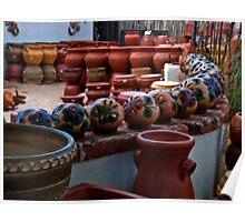 Mexican Pots Poster