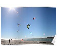 Raglan kite surfers Poster