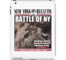 'Battle of New York' Newspaper cover  iPad Case/Skin