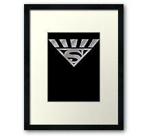 Black Lantern Superman Framed Print