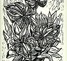 Cuatro Anturios (Four Anthuriums) by Michelle Falcony