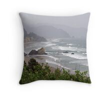 """Oregon Coastline"" Throw Pillow"
