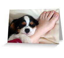 Foot Pillow Greeting Card