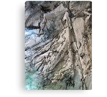 Rocks into Water Canvas Print