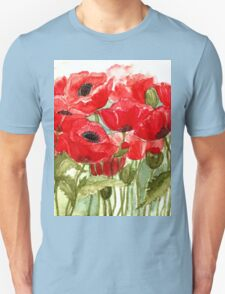 IN LOVE WITH BEAUTIFUL ROMANTIC RED POPPIES  Unisex T-Shirt