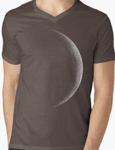 28 Day Moon Grey Mens V-Neck T-Shirt