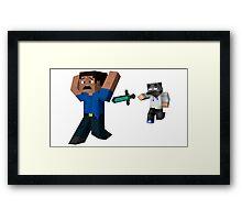 MrNovax Survival Games Framed Print