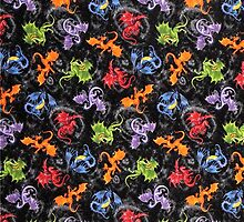 Whimsical Dragon Lovers Pattern by HavenDesign