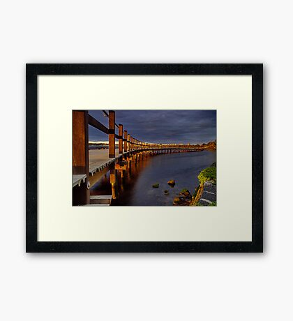 """Walk Over The Water"" Framed Print"