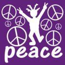Peace Dude Tee by Jan Landers