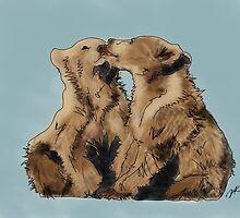 Bear Kisses by Danielle Keltner