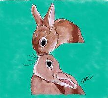 Bunny Kisses by Danielle Keltner