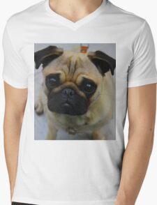 Puggin  Mens V-Neck T-Shirt
