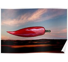 Flying Chilli Poster