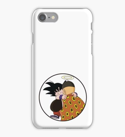Happy Goku Hugs Grandpa Gohan :3 iPhone Case/Skin