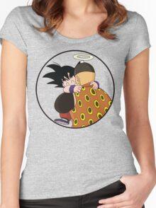 Happy Goku Hugs Grandpa Gohan :3 Women's Fitted Scoop T-Shirt