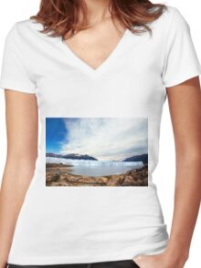 The Glacier Women's Fitted V-Neck T-Shirt