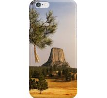 Prayer Cloths on the Trees at Devils Tower National Monument iPhone Case/Skin