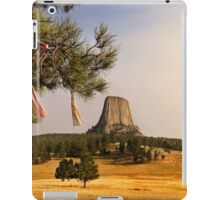 Prayer Cloths on the Trees at Devils Tower National Monument iPad Case/Skin
