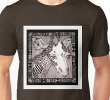 Meanwhile Back In Africa: Sample Doodle Giraffe Unisex T-Shirt