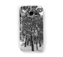 Close-up of pine leaves in snow.  Samsung Galaxy Case/Skin