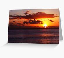 Sunset in Waikiki Greeting Card