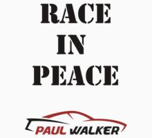 Race in Peace - Paul shirt, sticker, poster & more Kids Clothes