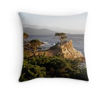 Evening Light on Lone Cypress Throw Pillow