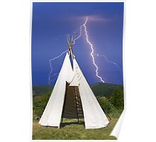 Teepee Lightning Poster