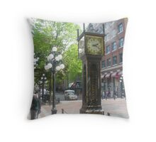 Steam Clock, Gastown, Vancouver Throw Pillow