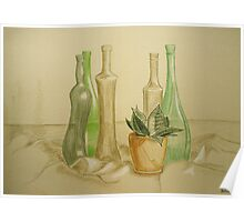 Still life with bottles Poster