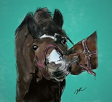 Horse Kisses by Danielle Keltner