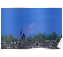 Lightning Strike in the high desert Poster